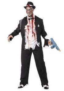 undead halloween costumes zombie gangster costume