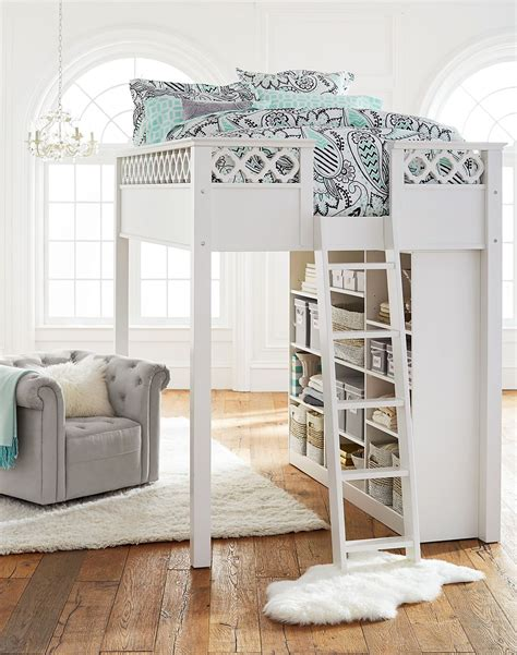 pb design your own room create your own space for sleep and study a lofted bed provides lots of space without