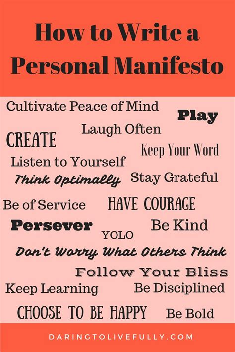 personal manifesto template 25 best ideas about values on leadership