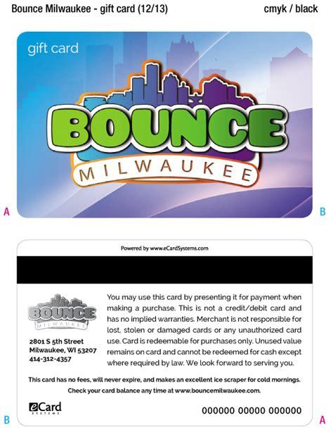 Bounce Gift Card - 25 bounce milwaukee gift card