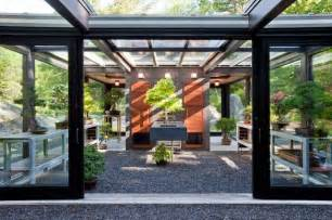 Barn Door Style Garage Doors Glass House In The Garden Modern Garage And Shed