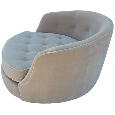 Circle Swivel Chair by Magnificent Milo Baughman Circle Swivel Lounge Chair In