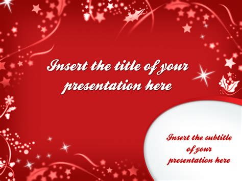 merry christmas template  powerpoint  impress