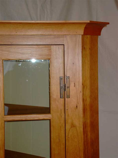 Handmade Furniture Pa - custom cherry pennsylvania corner cupboard vermont