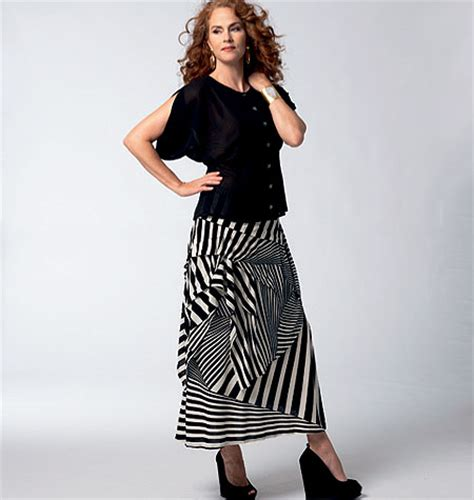 pattern review b5891 vogue patterns 1333 misses blouse and skirt