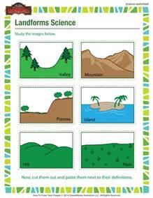 landforms science worksheet 3rd grade science worksheet