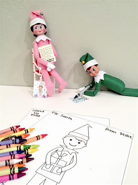 elf on the shelf printable elf elf on the shelf free printable coloring sheets smudgey