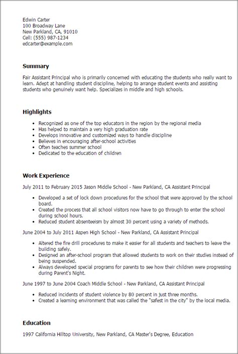 Assistant Principal Resume by Assistant Principal Resume Template Best Design Tips