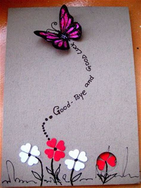 Handmade Farewell Greeting Cards - 25 best ideas about farewell card on goodbye
