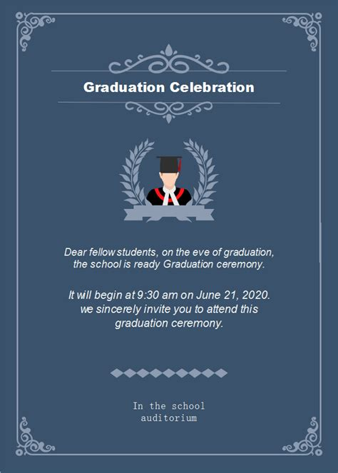 dark background graduation celebration invitation