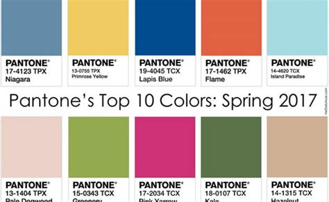 pantone colors 2017 spring summer 2017 fashion trends top 10 key colors