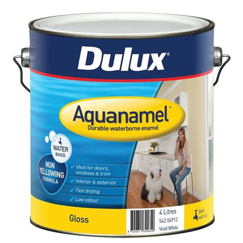 dulux bathroom paint price dulux aquanamel 4l white high gloss enamel paint