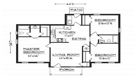 Bedroom House Plans by 2 Bedroom House Plans Simple House Plans Simple 2 Bedroom