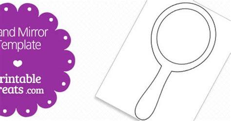 mirror will template free printable mirror shape template teaching