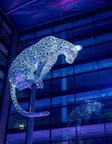 Cartwright Lighting Associates Leopard Sculpture Given Top Spot At Marischal Square