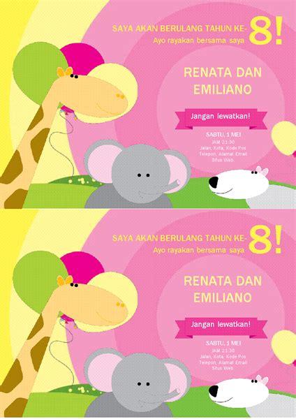 desain kartu nama untuk anak kartu undangan pesta ulang tahun desain anak anak 2