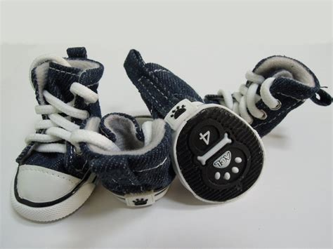shoes for yorkies abcgoodefg 174 puppy pet sporty shoes lace up blue canvas