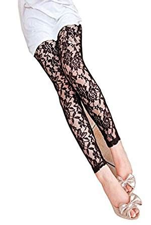 floral pattern lace tights amazon com amour new sexy black floral pattern lace