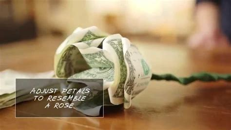 Origami Flower Out Of A Dollar Bill - how to make flowers out of dollar bills