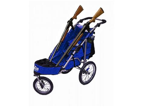 rugged gear cart rugged gear standard two gun shooting cart swivel front wheel blue