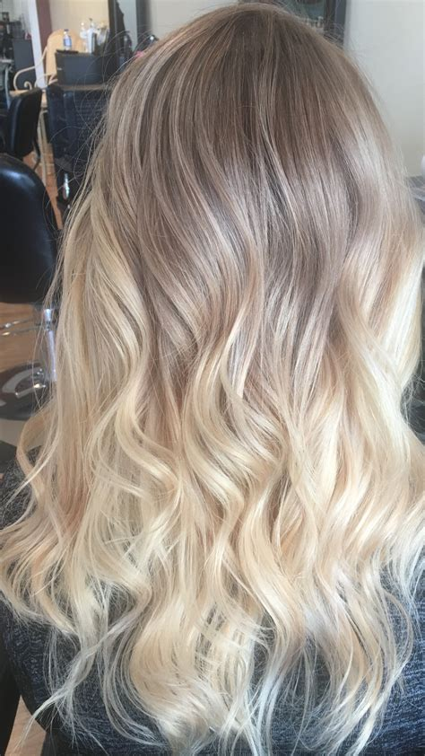 blonde hairstyles ombre ashy blonde ombr 233 balayage hair i did pinterest