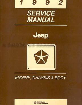 1993 jeep wrangler engine factory repair manual 1992 jeep repair shop manual set original comanche cherokee wrangler