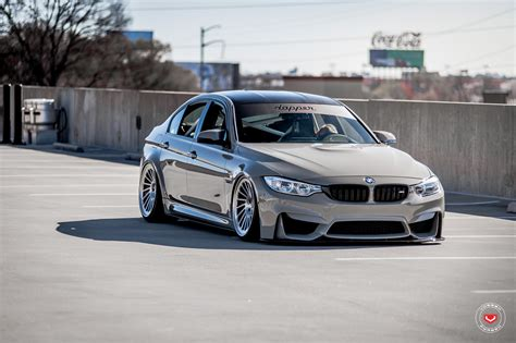 bmw m3 slammed grigio medio bmw m3 slammed on vossen wheels bmw