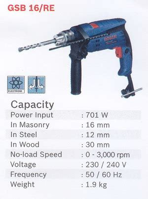 Bor Tangan Bosch Gsb 16 Re product of power tools perkakas tangan supplier