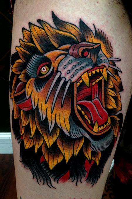 tattoo old school lion paradise tattoo gathering