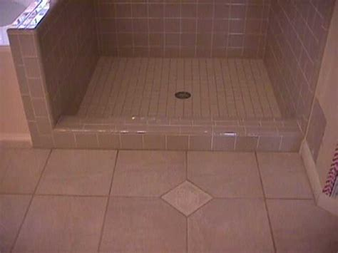 retile bathroom floor tile shower start to finish