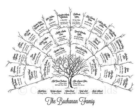 family tree fan template 1000 ideas about family tree crafts on tree