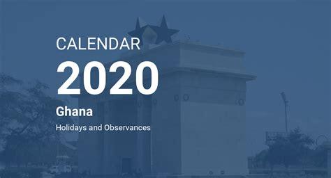 year  calendar ghana