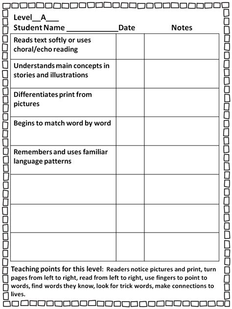 guided reading observation template grade wow guided reading guide