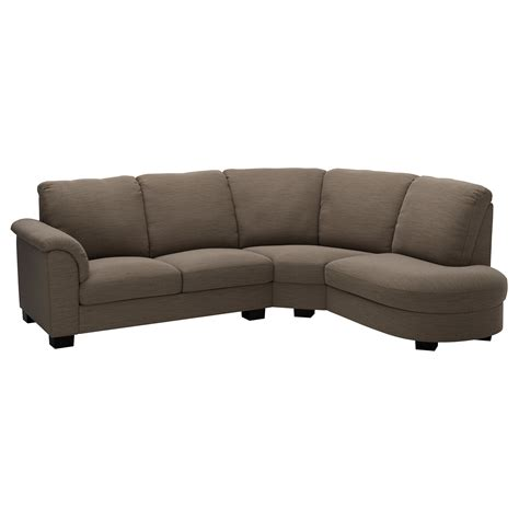 tidafors corner sofa with arm left hensta light brown ikea