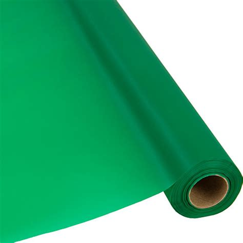 Plastic Table Cover Rolls by Emerald Green Plastic Table Cover Roll