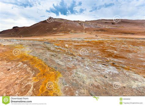 stone desert stone desert at geothermal area hverir iceland stock