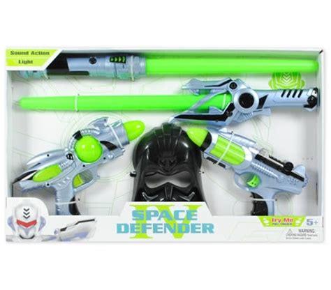 space defender iv gun sword & mask toy set with lights