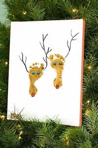 christmas crafts feet painting reindeer dump a day