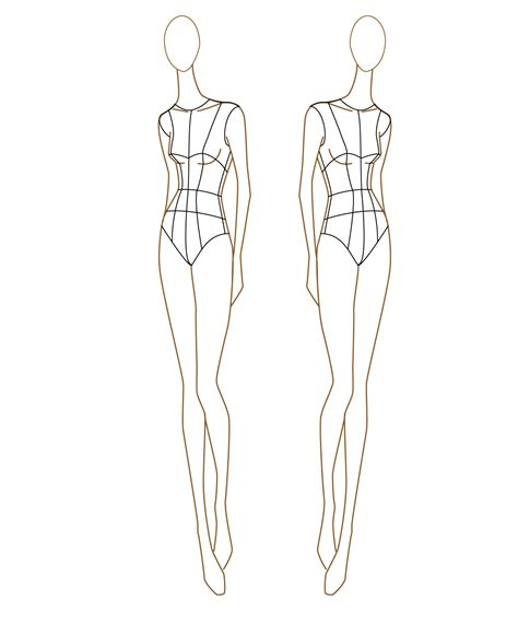the gallery for gt fashion figure sketches templates