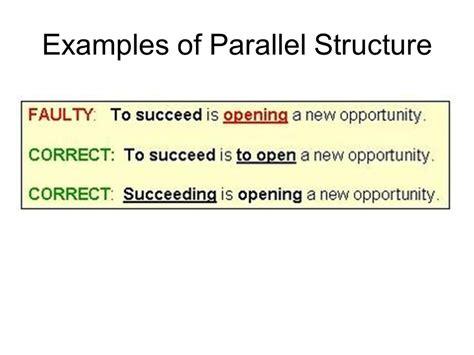 parallel structure explanation parallel structure means