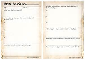 Children S Book Template by Book Review Template