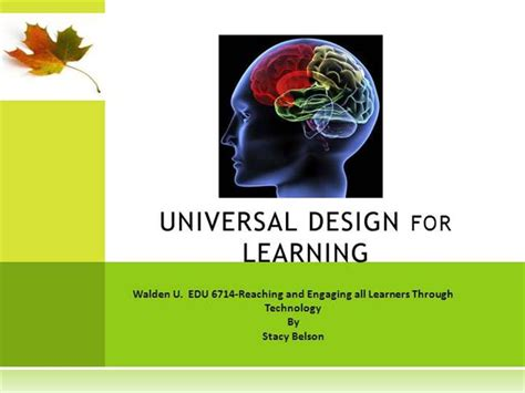 universal design for learning powerpoint presentation universal design for learning sbel authorstream