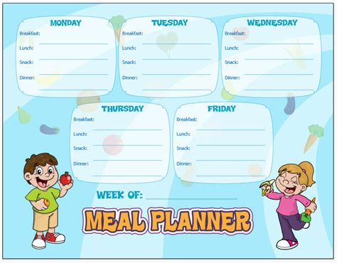 printable healthy meal planner meal planning and the busy mom healthy ideas for kids