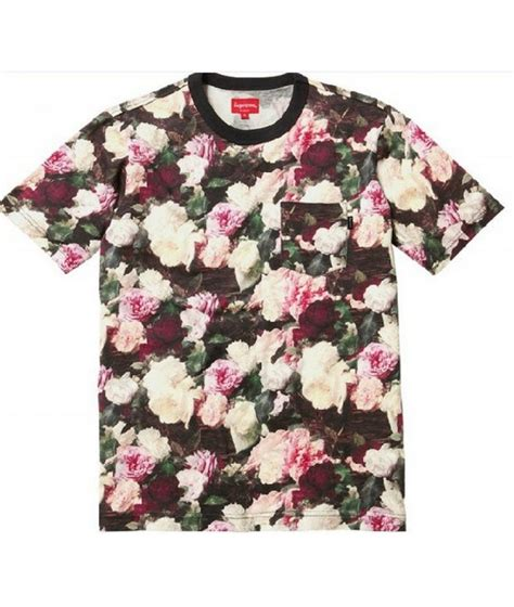 T Shirt Floral supreme quot nyc floral pocket quot t shirts collection