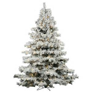 vickerman flocked alaskan christmas tree flocked