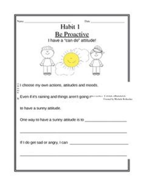 Leader In Me Worksheets by 7 Habits On Poster Worksheets And
