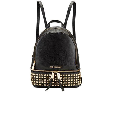 Mk Backpack Studded michael michael kors s rhea zip studded backpack black