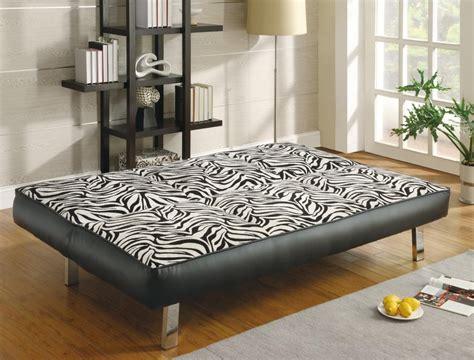 zebra print futon contemporary zebra print sleeper sofa bed coaster