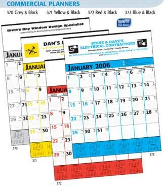 Inexpensive Calendar Planners Promotional Commercial Wall Calendars Planners