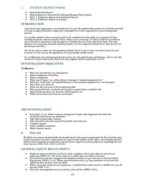 28 annual health and safety report template safety